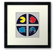 Video Game Icons Framed Print