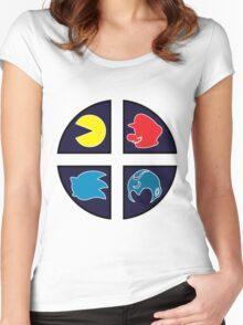 Video Game Icons Women's Fitted Scoop T-Shirt