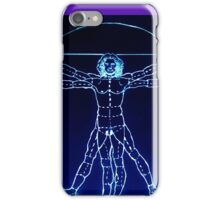 Vitruvian Man Mono Rev iPhone Case/Skin