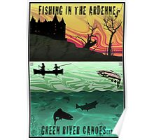 Fishing in the Ardennes Poster