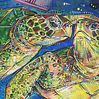 Turtles two painting - 2016 by Gwenn Seemel