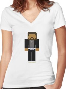 The Weeknd - Minecraft Women's Fitted V-Neck T-Shirt
