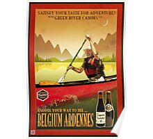 Canoeing and Trappist Beers Poster