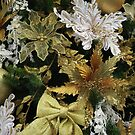 Christmas Tree Decorations -  Gold & White by wiggyofipswich