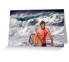 Pipeline Surfer 3 Greeting Card
