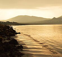 Staffin Beach at Dusk by spoilmesweetie