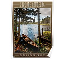 Explore by Canoe Poster