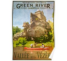 Canoeing on the Vezere Poster