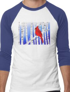 Winter Cardinal Men's Baseball ¾ T-Shirt