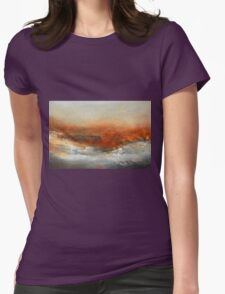 Rust Landscape II Womens Fitted T-Shirt