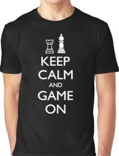 KEEP CALM AND GAME ON - Chess Graphic T-Shirt