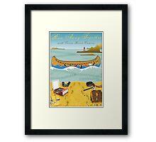 Canoe to Moonrise Kingdom Framed Print