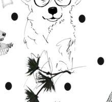 Pattern animal black Sticker