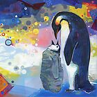 Emperor penguins painting - 2012 by Gwenn Seemel