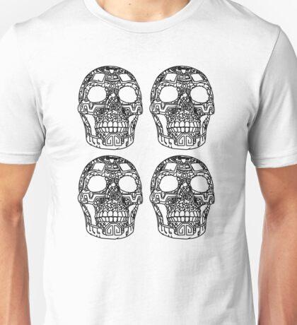 design skulls - b&w Unisex T-Shirt