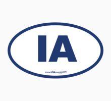 Iowa IA Euro Oval BLUE by USAswagg
