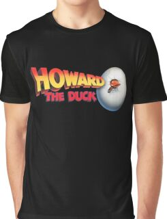 Howard The Duck Movie Title Retro Graphic T-Shirt