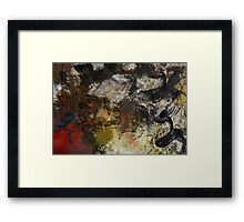 Abstraction on Red  Framed Print