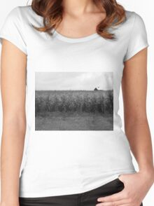 Cornfield and Farmhouse Women's Fitted Scoop T-Shirt