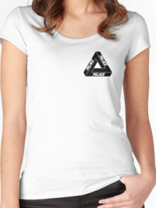 PALACE x black on white Women's Fitted Scoop T-Shirt