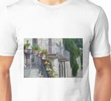Colorful flowers in flower pots in Assisi Unisex T-Shirt