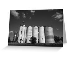 Illinois Grain Silos Greeting Card
