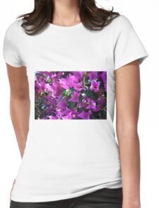Natural background of purple flowers Womens Fitted T-Shirt