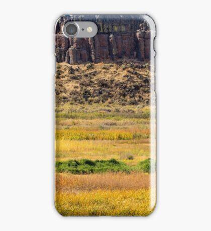 Cliff overlooking fields iPhone Case/Skin