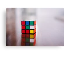 rubiks cube unsolved Canvas Print