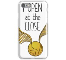 open at close hp iPhone Case/Skin