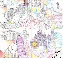Florence, Venice, Pisa, Siena by Lauren Rakes