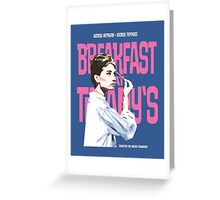 Breakfast at Tiffany's Movie Poster Greeting Card