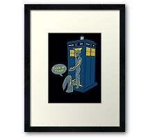 Tardis Trick Or Treat Framed Print