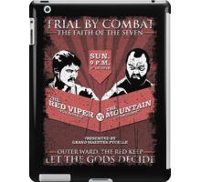 The Red Viper VS The Mountain iPad Case/Skin