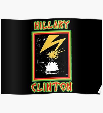 Hillary Brains Poster