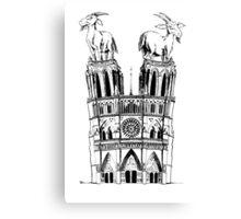 Goats of Notre Dame Canvas Print