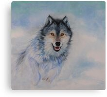Winter Chase Canvas Print