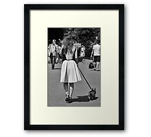 Walking the Dog #2 Framed Print
