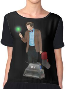 The 11th Doctor and K-9 Chiffon Top