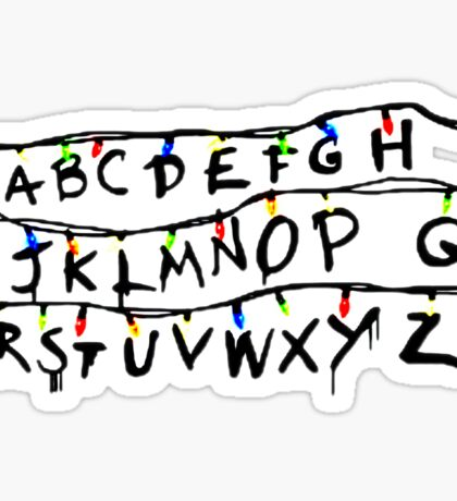 Stranger things ABCs Sticker