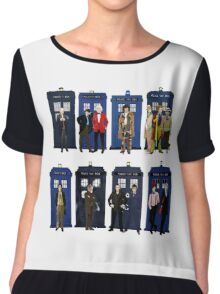Doctor Who - Doctors & Tardises Chiffon Top