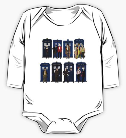 Doctor Who - Doctors & Tardises One Piece - Long Sleeve