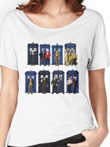 Doctor Who - Doctors & Tardises Women's Relaxed Fit T-Shirt