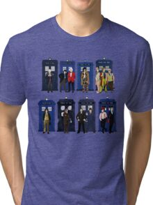 Doctor Who - Doctors & Tardises Tri-blend T-Shirt