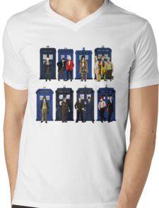 Doctor Who - Doctors & Tardises Mens V-Neck T-Shirt