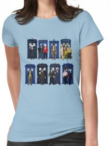 Doctor Who - Doctors & Tardises Womens Fitted T-Shirt