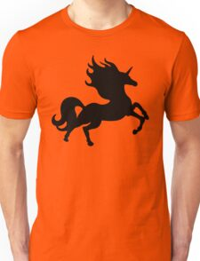 Simple Black Unicorn Unisex T-Shirt