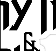 Rhythm and blues black color Sticker
