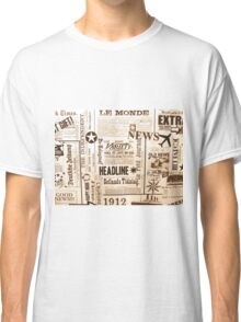 Vintage Typography Old Newspaper Ads Classic T-Shirt