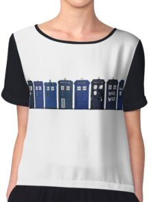 TARDIS Lineup Chiffon Top